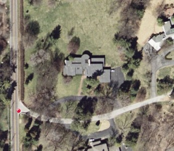 A Google aerial shot of the Zorensky Residence.