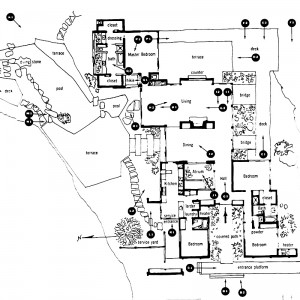 Shulman's map of a photo shoot from his book Photographing Architecture and Interiors.