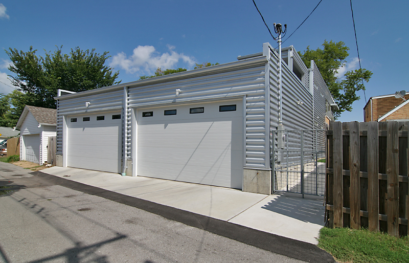 I Love How They Carried The Materials And Aesthetic To The Alley; This  Garage Is Amazing! And It Brings Up A Dozen Questions, Including: How Do  The ...