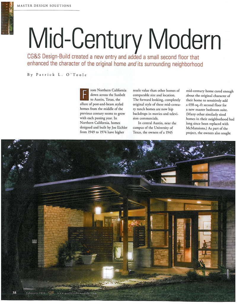 Mid century modern remodeling b e l t for Remodeling a mid century modern home