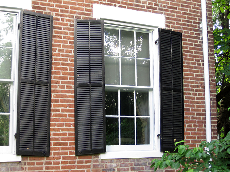 How To Install Exterior Window Shutters On Brick Home Dagorcompany