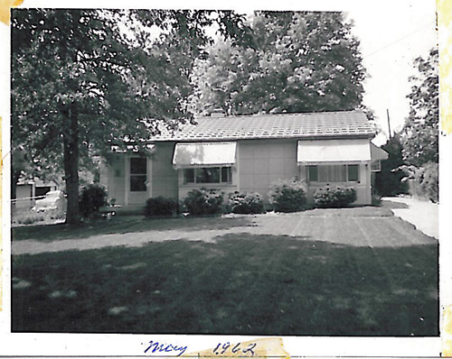 lustron home in brentwood, mo, historical photo from owner