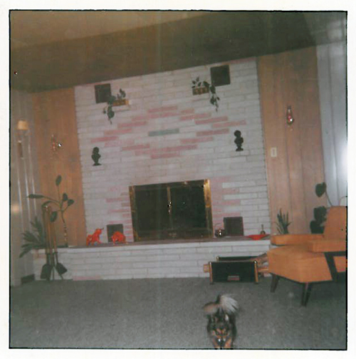 Original owner added a fireplace to their Brentwood, MO Lustron in 1958