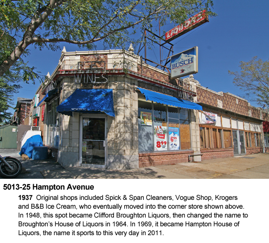 5013-25 Hampton Avenue, Hampton House of Liquors, photo by Toby Weiss