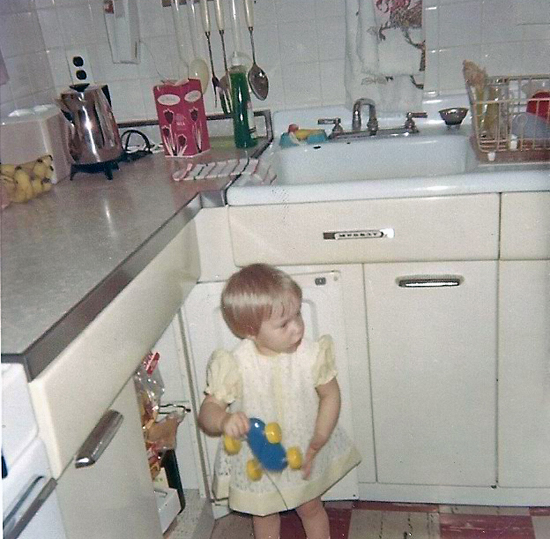 Original kitchen of 509 Teston Dr Ferguson MO 1969