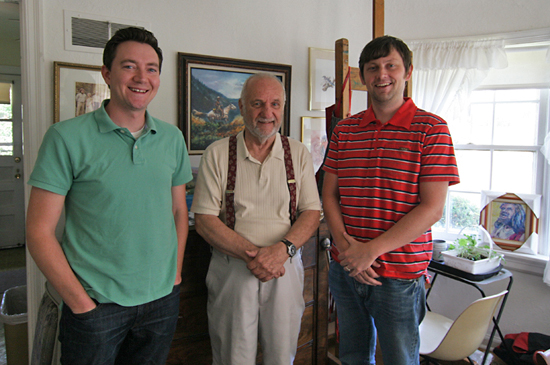 Nathan Wilber, Ralph Fournier & Neil Chace at Fournier's home, July 3, 2011.