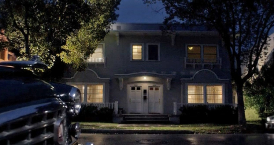 The duplex Virginia Johnson lived in, as depicted on Showtime's Masters of Sex.