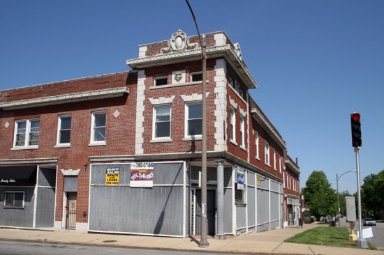 At the Union Blvd. intersection is a mixed-use building erected in 1911. It originally housed a drug store and barber, among several other businesses.