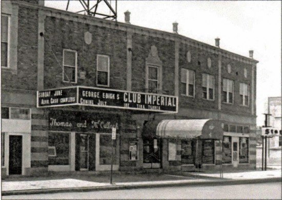 At the Goodfellow Blvd. intersection, this building went up in 1928 with retail at street level, doctors and dentists on the 2nd floor. 6324 is the most famous address, starting as the Community Hall in 1930, becoming the Imperial Ballroom in the 1940s & 50s. In the 1960s is when it became the legendary rock and r&b venue, Club Imperial.