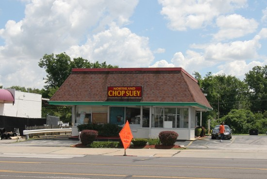 A Jack-in-the-Box went in at 9240 West Florissant in 1970. Northland Chop Suey - one of the last holdouts at Northland Shopping Center, moved to this location in 2005 during its demolition.