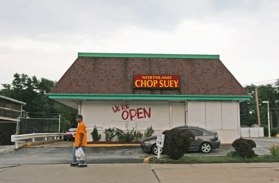 photo by Toby Weiss | August 2014, Northland Chop Suey was hurt in the lootings after Mike Brown's shooting. But as with most of the shop owners in this block of West Florissant, they are staying put.