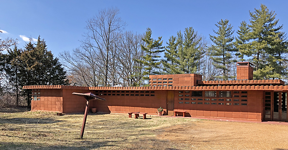 Frank Lloyd Wright Pappas House, St. Louis MO. Photo by Toby Weiss