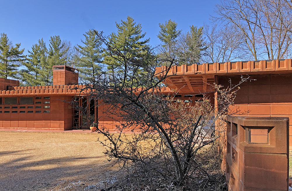 Detail of Frank Lloyd Wright Pappas House